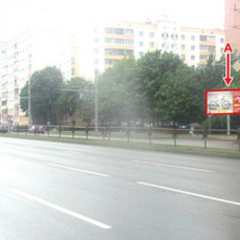 Сторона А - Минск, пр. Пушкина - ул. Дунина - Марцинкевича,10